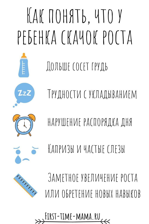 Как понять, что у ребенка скачок роста | Впервые мама first-time-mama.ru